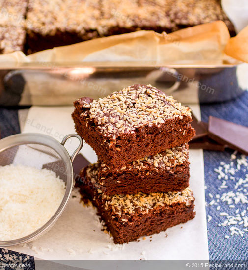 Olive Oil Brownies with Coconut