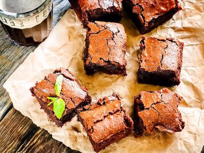 Super Easy Double-Fudge Brownies
