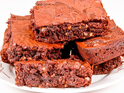 Chocolate Syrup Nut Brownies