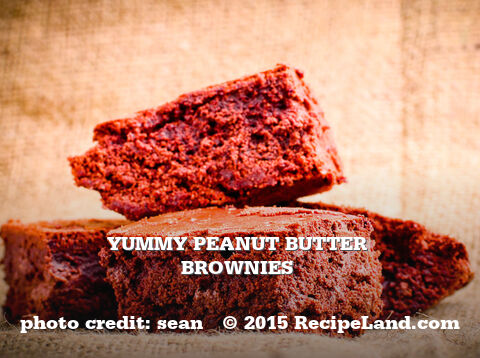 Yummy Peanut Butter Brownies