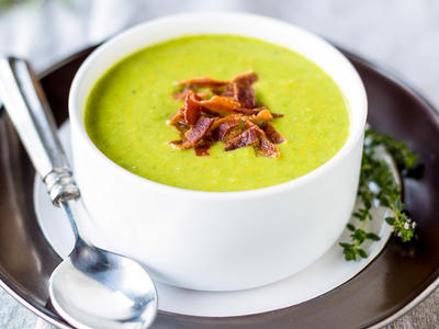 Minted Split and Fresh Pea Soup
