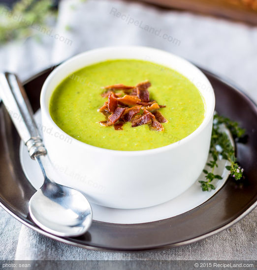 Minted Split and Fresh Pea Soup Recipe