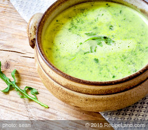 Arugula, Potato and Leek Soup
