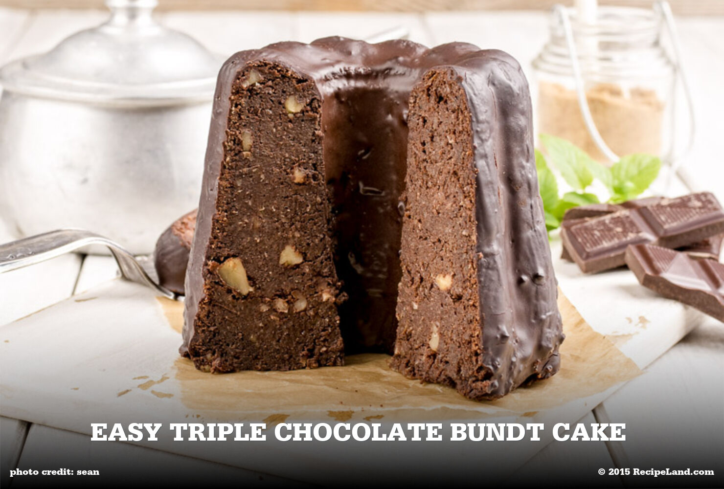 Easy Triple Chocolate Bundt Cake