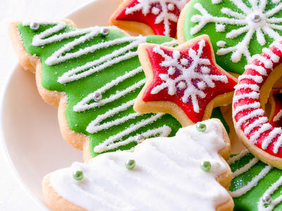 Molded Christmas Cookies