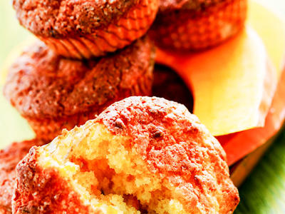 Orange Pumpkin-Bran Muffins