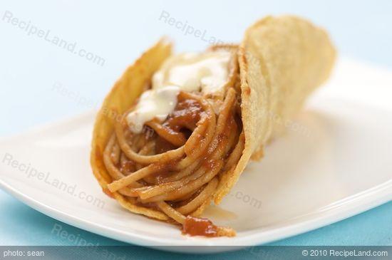 Spaghetti Tacos Recipe Recipeland Com