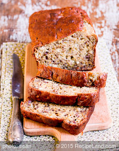 Moist Dried Fruit Banana Bread