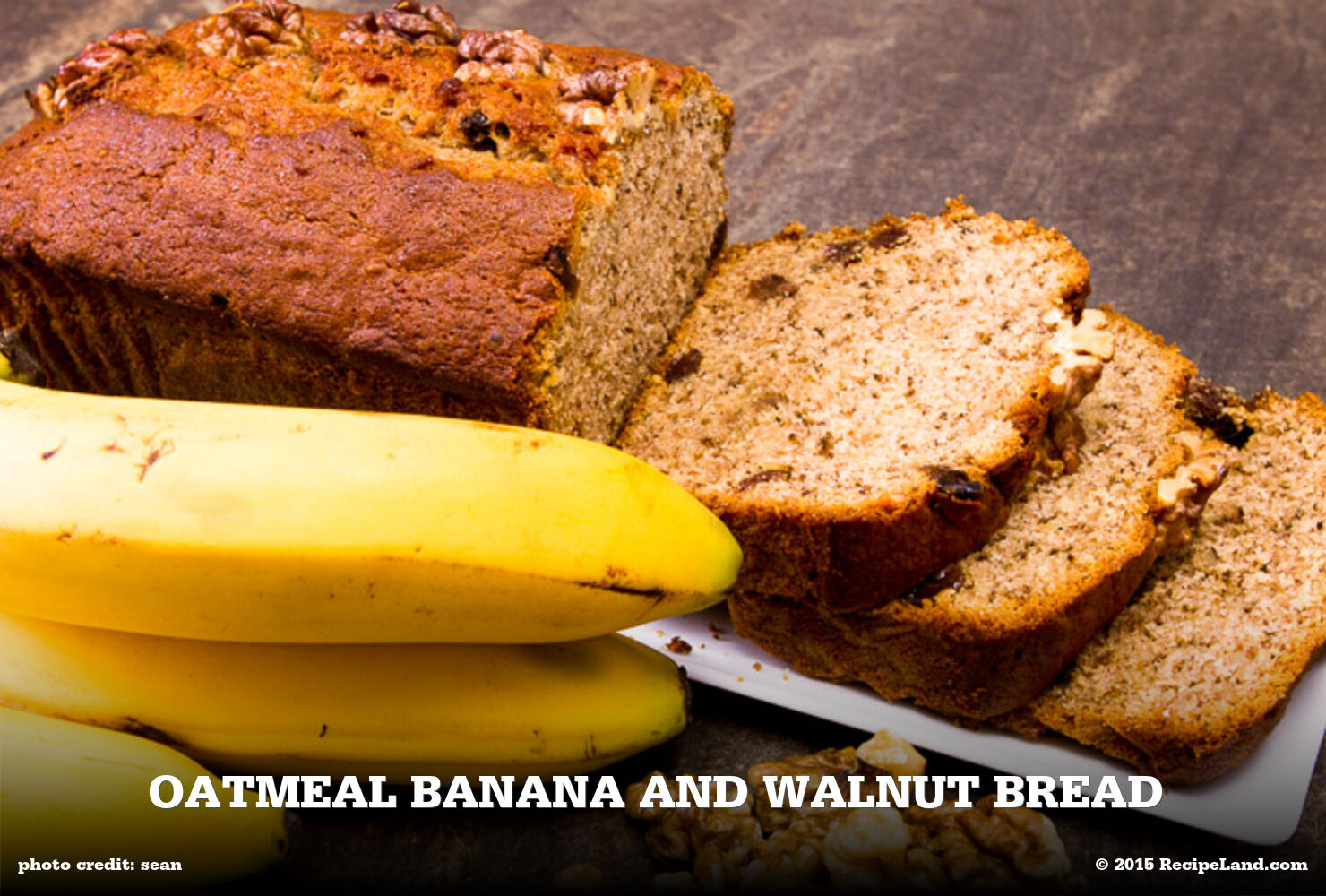 Oatmeal Banana and Walnut Bread