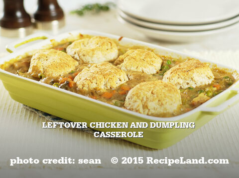 Leftover Chicken and Dumpling Casserole