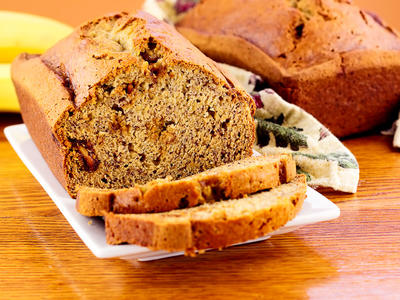 Whole Wheat Pecan Banana Bread
