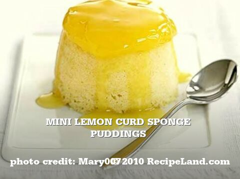 Mini Lemon Curd Sponge Puddings