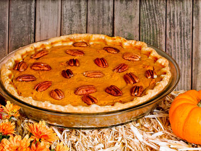 Nancy Reagan's Pumpkin Pecan Pie