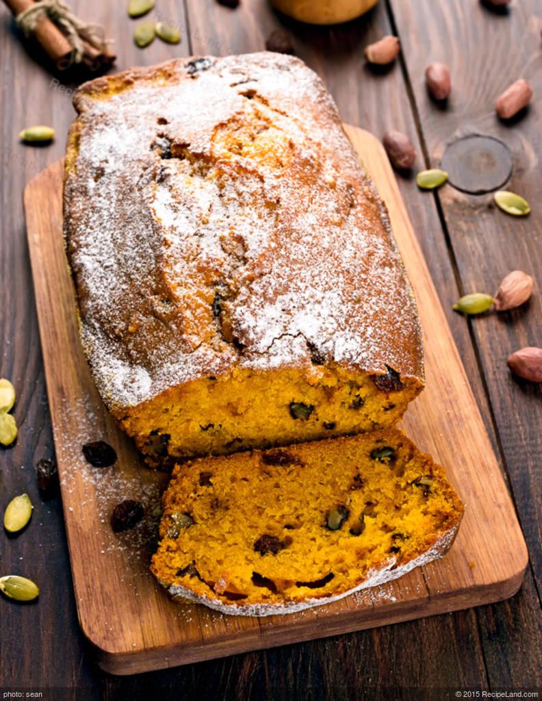 Nutty Moist Pumpkin Bread Recipe