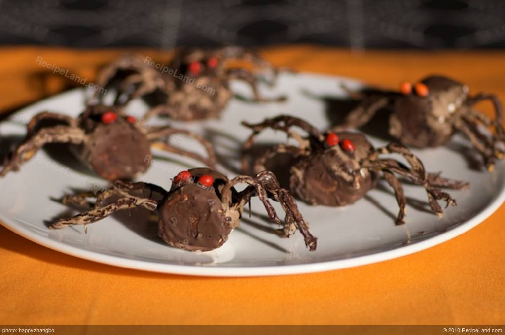 Halloween Chocolate Spiders Recipe