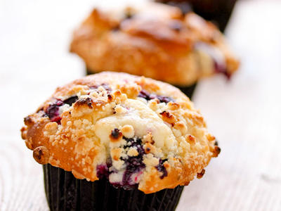 Quick Blueberry Ice-cream Muffins