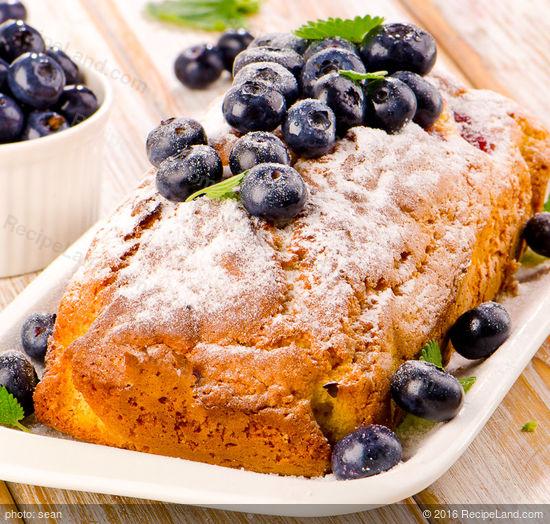 Blueberry Cornmeal Loaf Cake Recipe