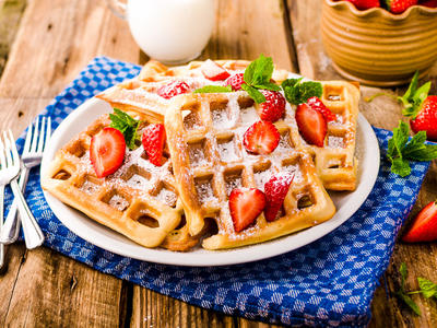 Breakfast Citrus Waffles