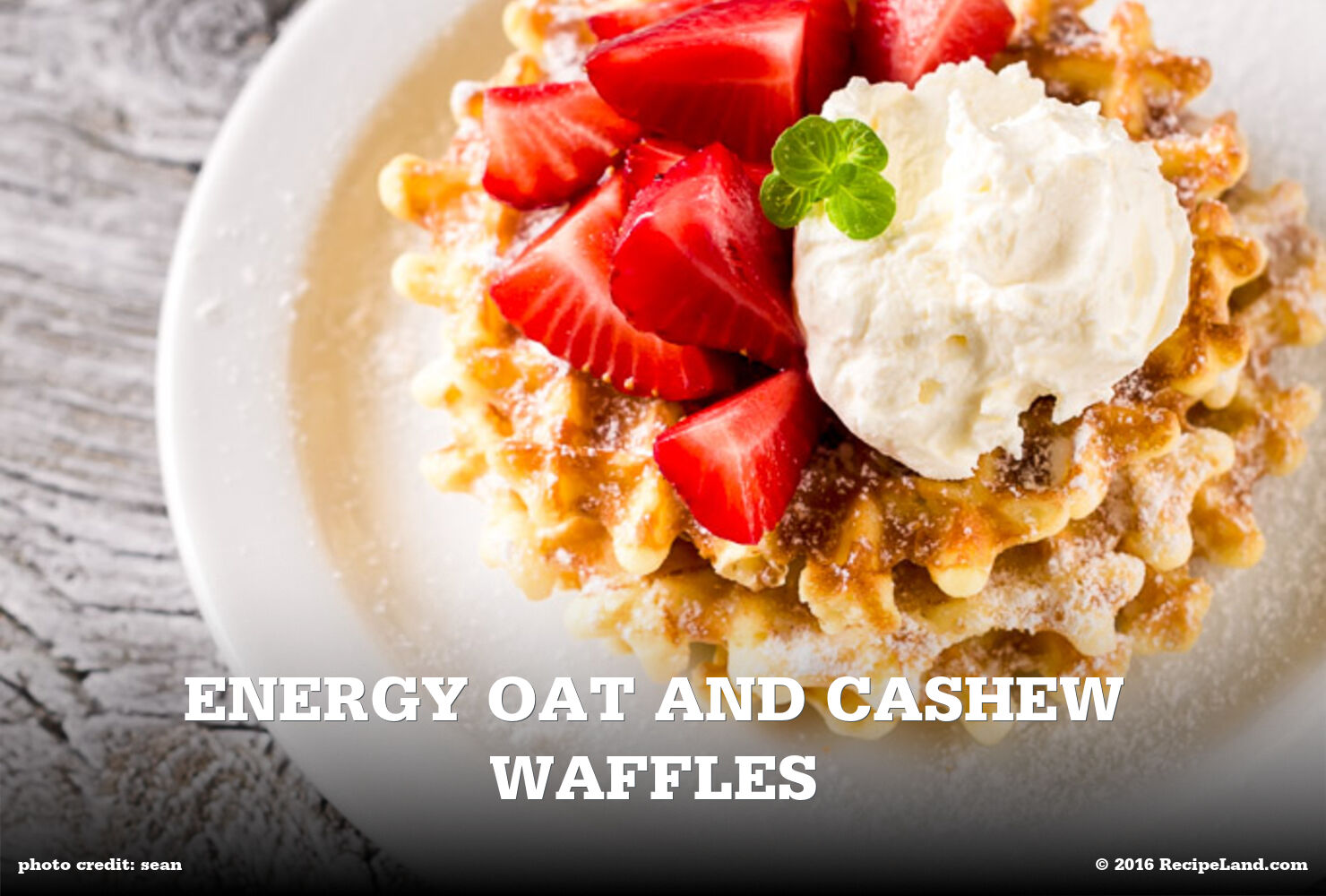 Energy Oat and Cashew Waffles