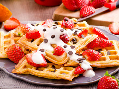 Waffles (Using Wheat Quick Mix)