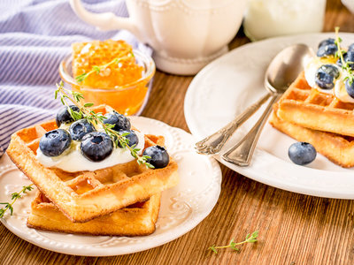 Delicious Breakfast Waffles