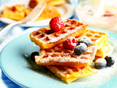 Wholegrain Waffles with Flaxseeds