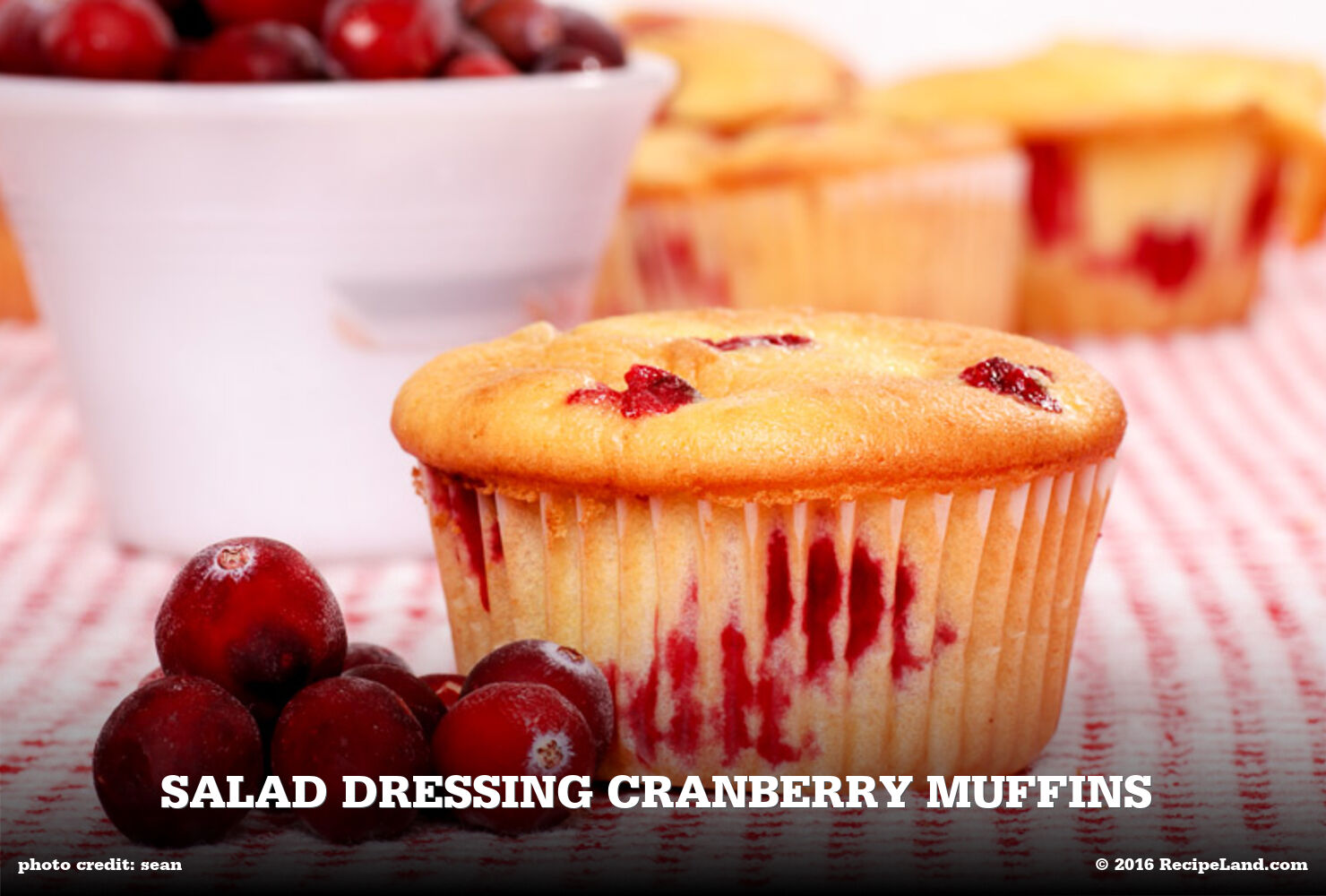 Salad Dressing Cranberry Muffins