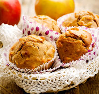 Whole Wheat Applesauce Cinnamon Muffins