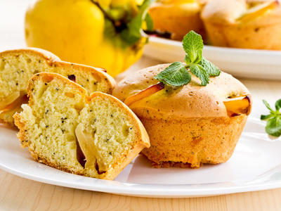 Breakfast Honey Persimmon Muffins