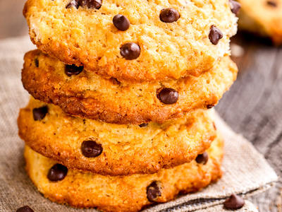 Oatmeal Mini Chip Cookies