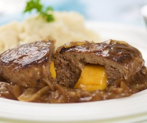 Cheese Filled Salisbury Steaks