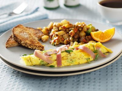 Easy Scrambled Eggs and Ham