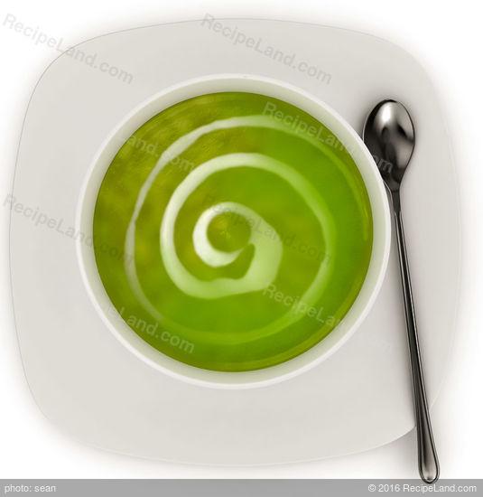 Chilled Creamed Broccoli Soup Recipe