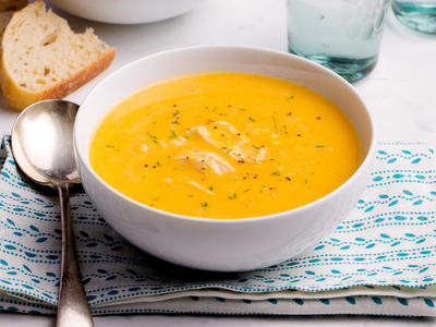 Pumpkin Soup with Coconut and Ginger
