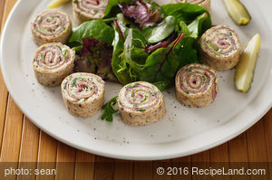 Easy Party Ranch Ham Rolls