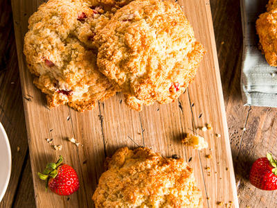 Kate's Strawberry Biscuits