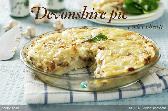 Devonshire Potato-Mushroom Pie Recipe
