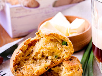 Sour Cream and Herb Drop Biscuits