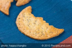 Halloween Cheddar Poppy Moon Crackers