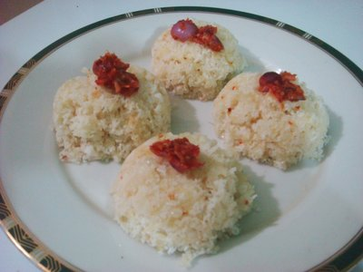 Homemade Steamed Tapioca