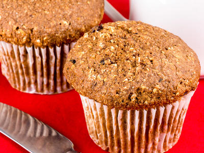 High Fibre Banana Bran Muffins