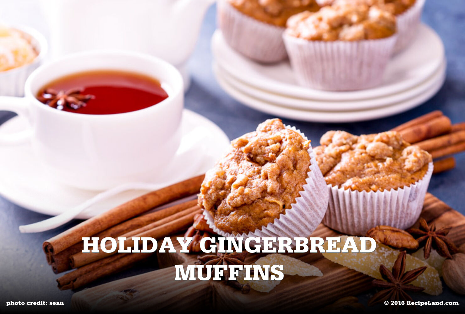 Holiday Gingerbread Muffins