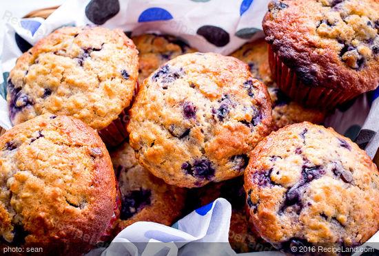 Blueberry Bran Honey Muffins Recipe