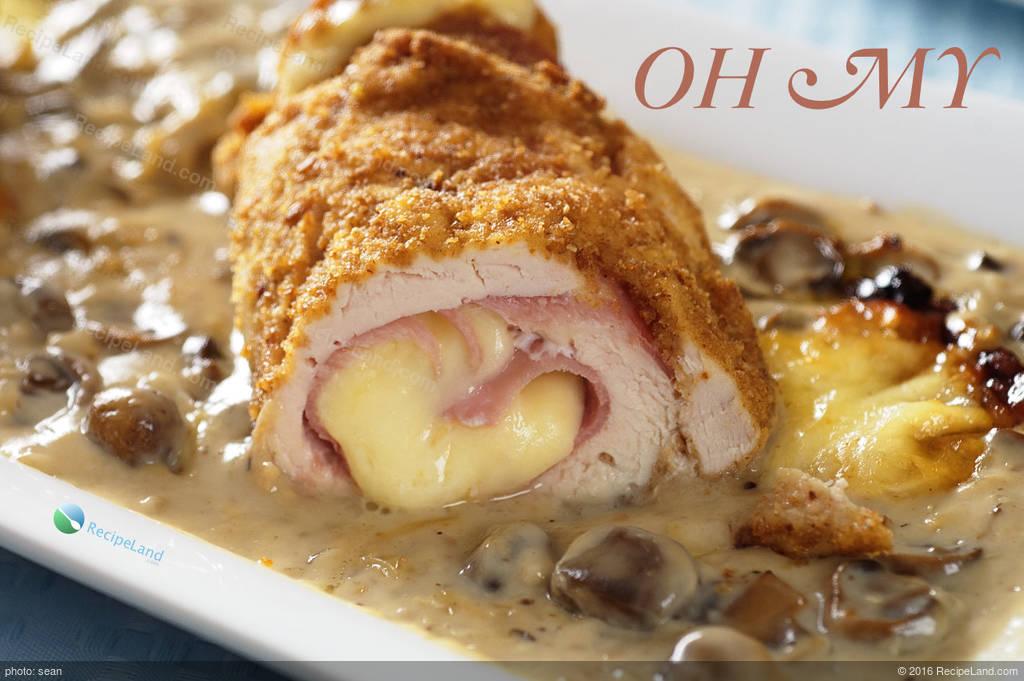 Chicken cordon bleu with creamy mushroom sauce recipe chicken cordon bleu with creamy mushroom sauce forumfinder Image collections