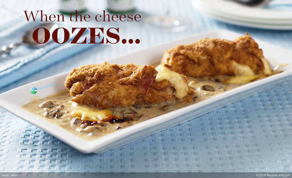 Chicken Cordon Bleu With Creamy Mushroom Sauce Recipe