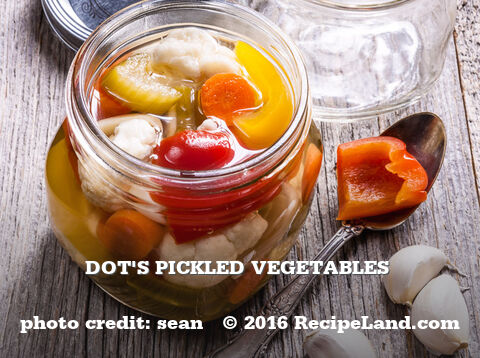 Dot's Pickled Vegetables