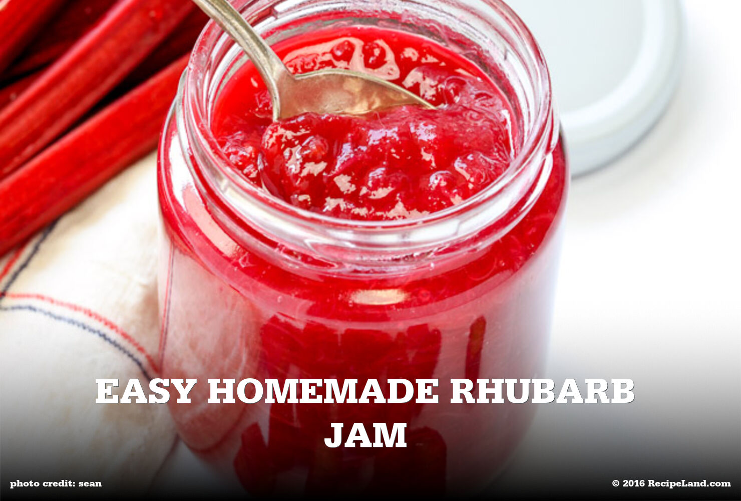 Easy Homemade Rhubarb Jam