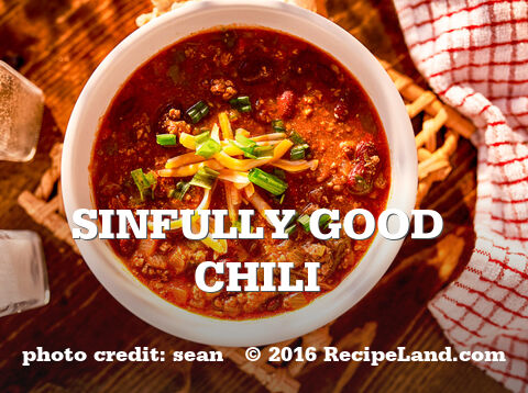 Sinfully Good Chili