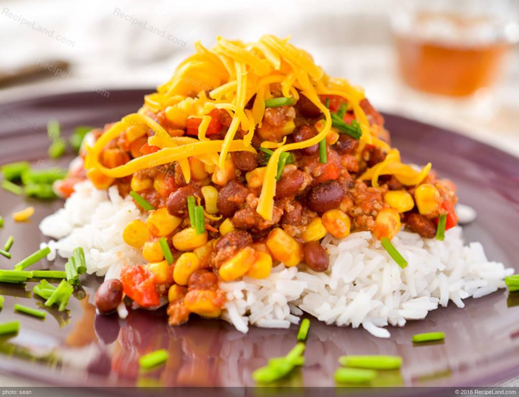 Black Bean Chili Con Carne With Cilantro Pesto Recipe