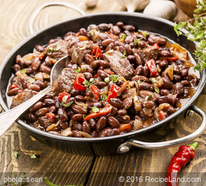 Black Bean Beef and Pork Chili